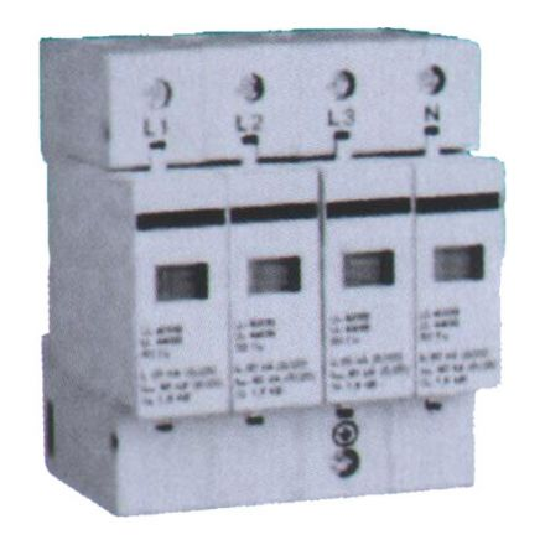 Ограничитель импульсных перенапряжений TGDY55ll-20kA 4P, класс С